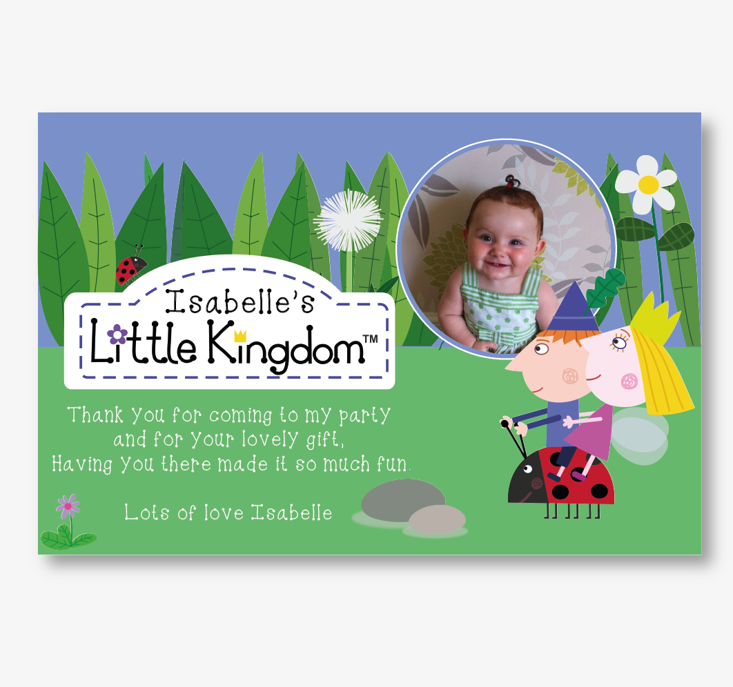 Personalised Ben and Holly Thank You Card | Beyond The Ink