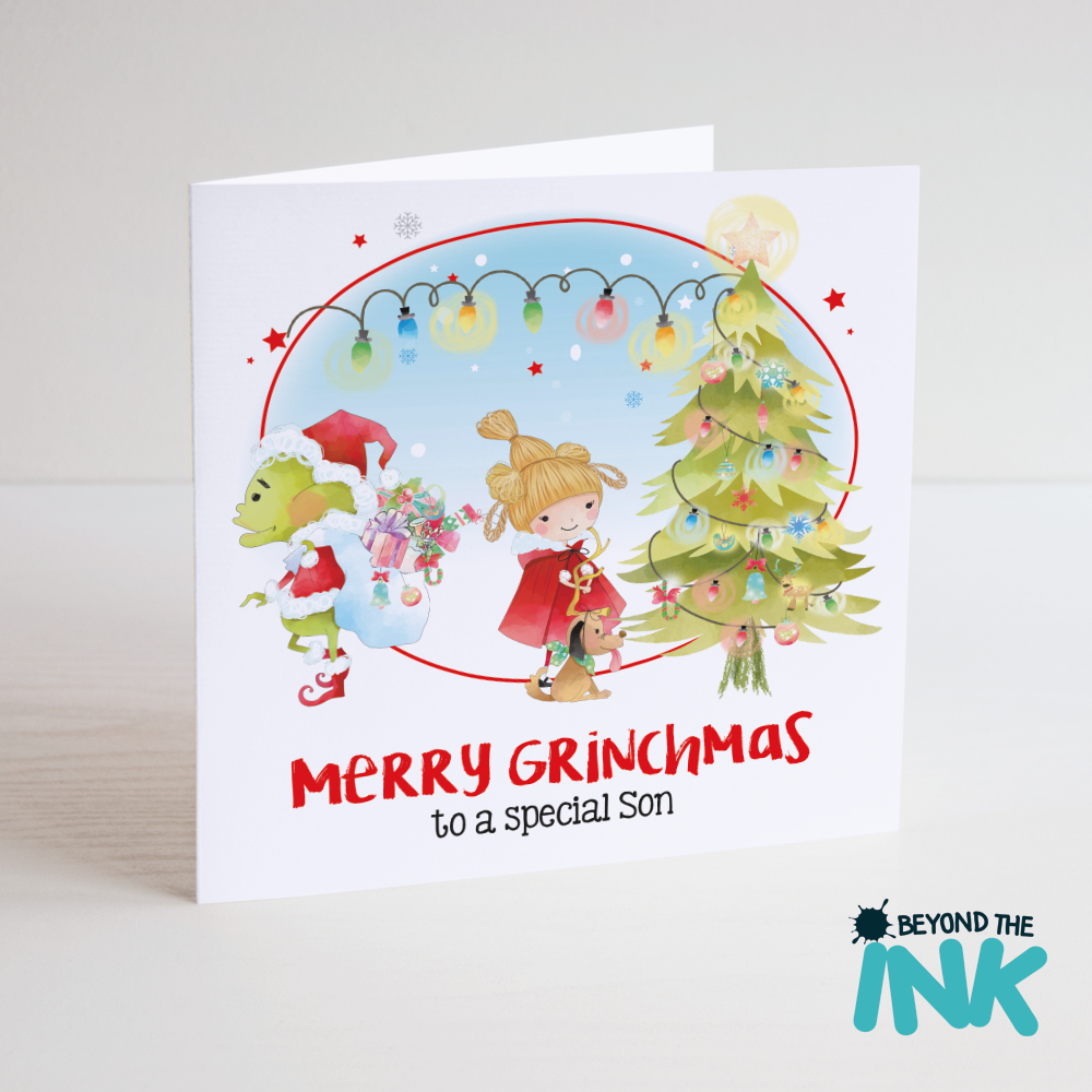 The Grinch Christmas Card – Merry Grinchmas *Relation* | Beyond The Ink
