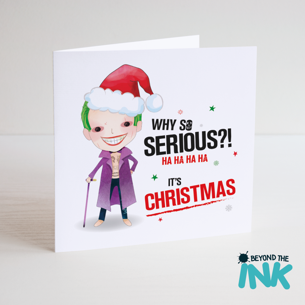 Suicide Squad Joker Christmas Card Why So Serious Beyond The Ink