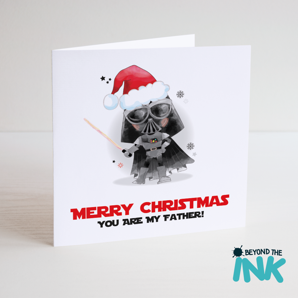 star wars christmas card you are my father beyond the ink