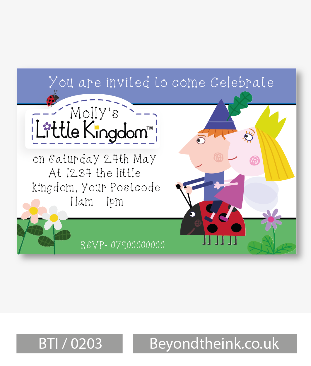 Personalised Ben and Holly Photo Invitation | Beyond The Ink