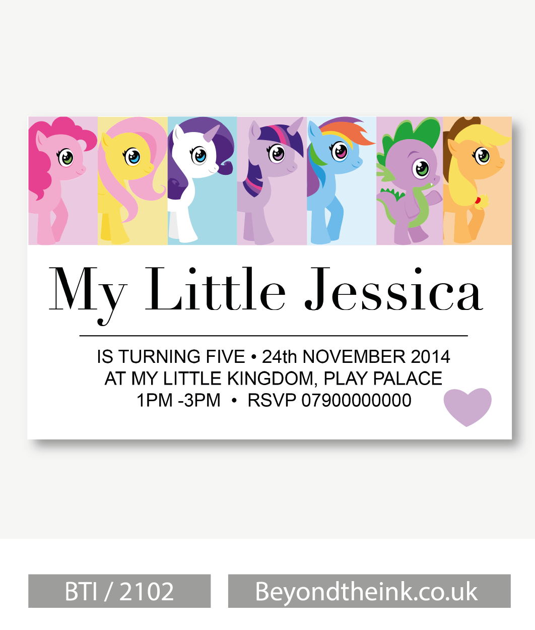 Personalised My Little Pony Photo Invitation | Beyond The Ink