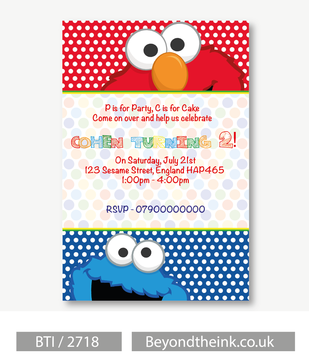 Elmo invitation uk for Elmo template for invitations