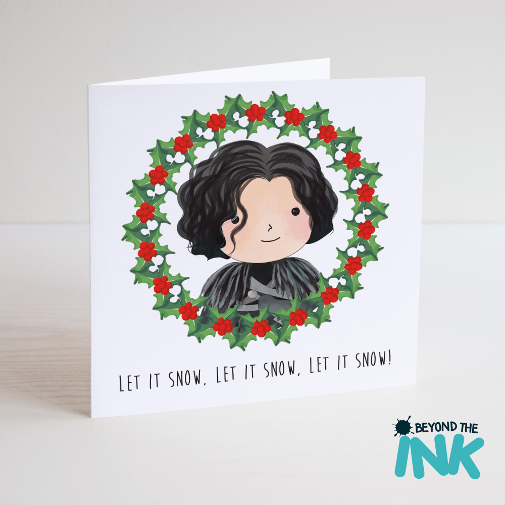 Wonderful Jon Snow Game Of Thrones Christmas Card – Let It Snow | Beyond The Ink UQ49