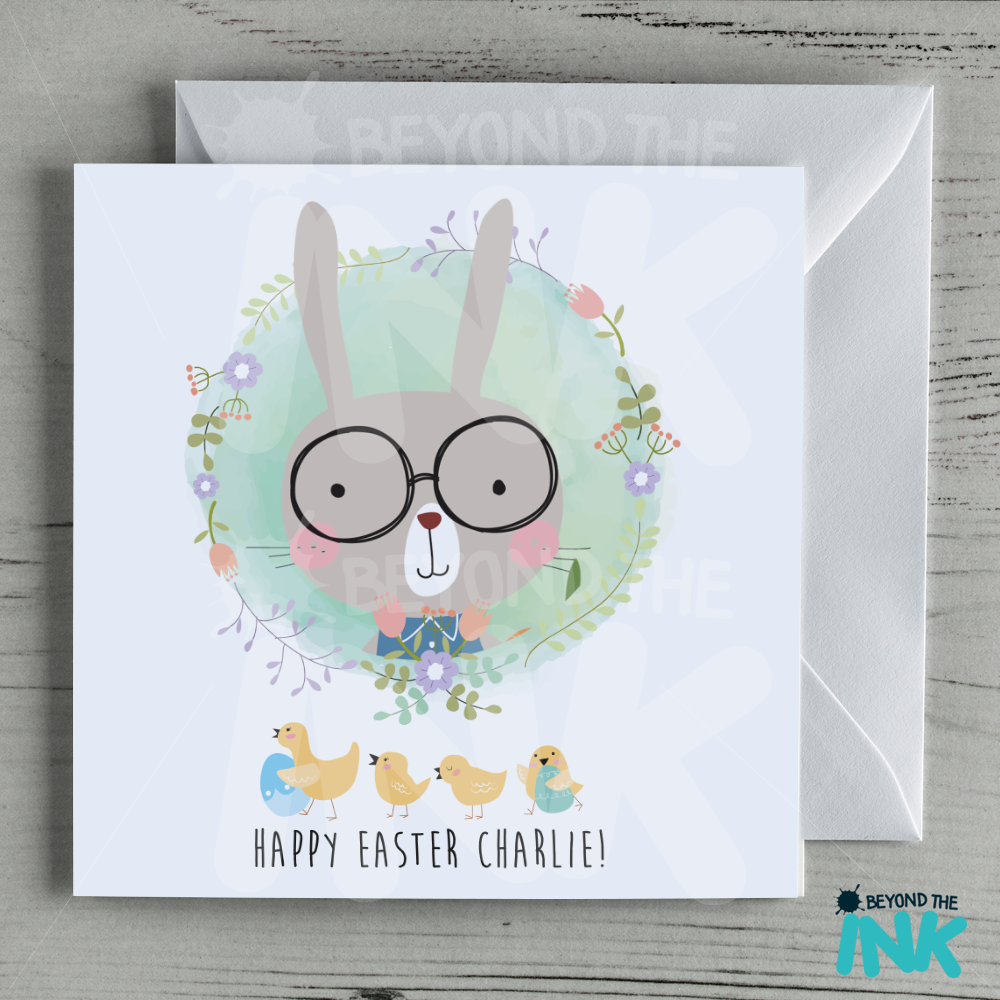 personalised easter bunny card beyond the inkbeyond the ink