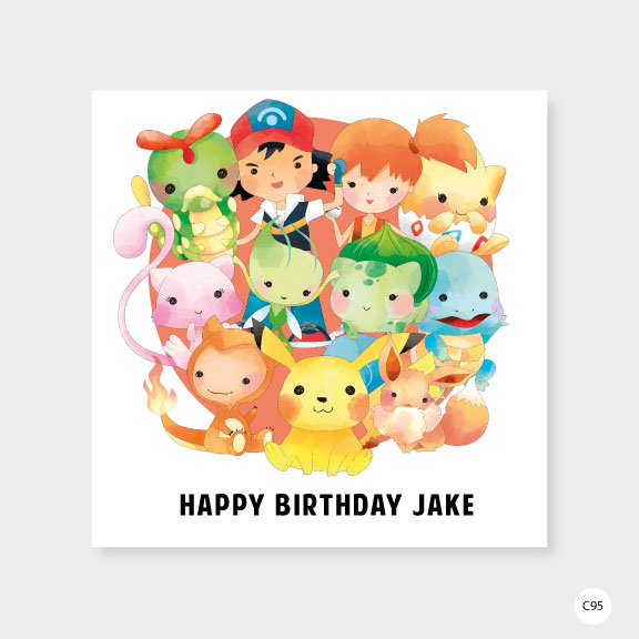 Personalised Pokemon Birthday Card