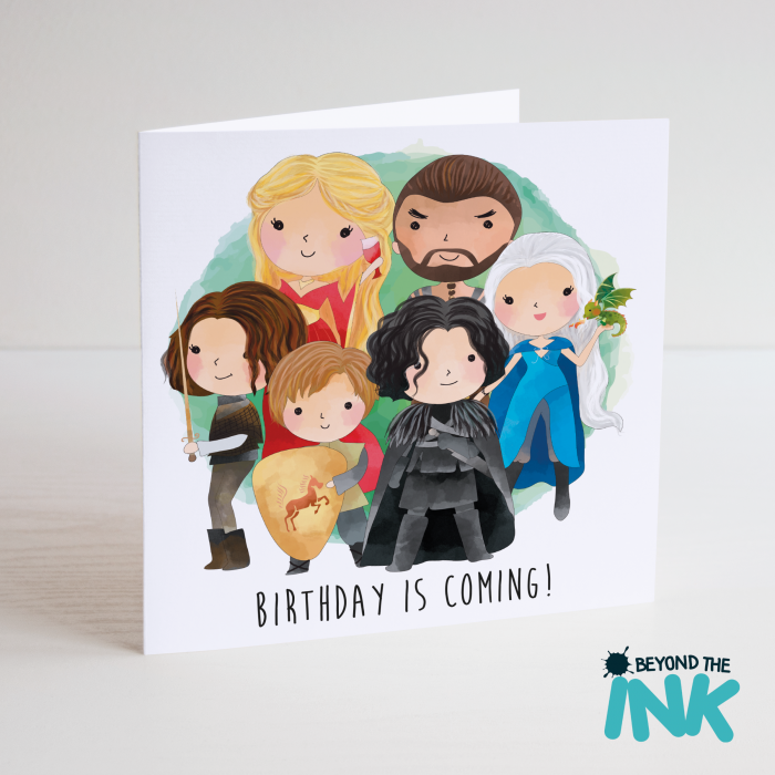 HomeCardsBirthday CardsCharacterGame Of ThronesGame Thrones Birthday Is Coming Card