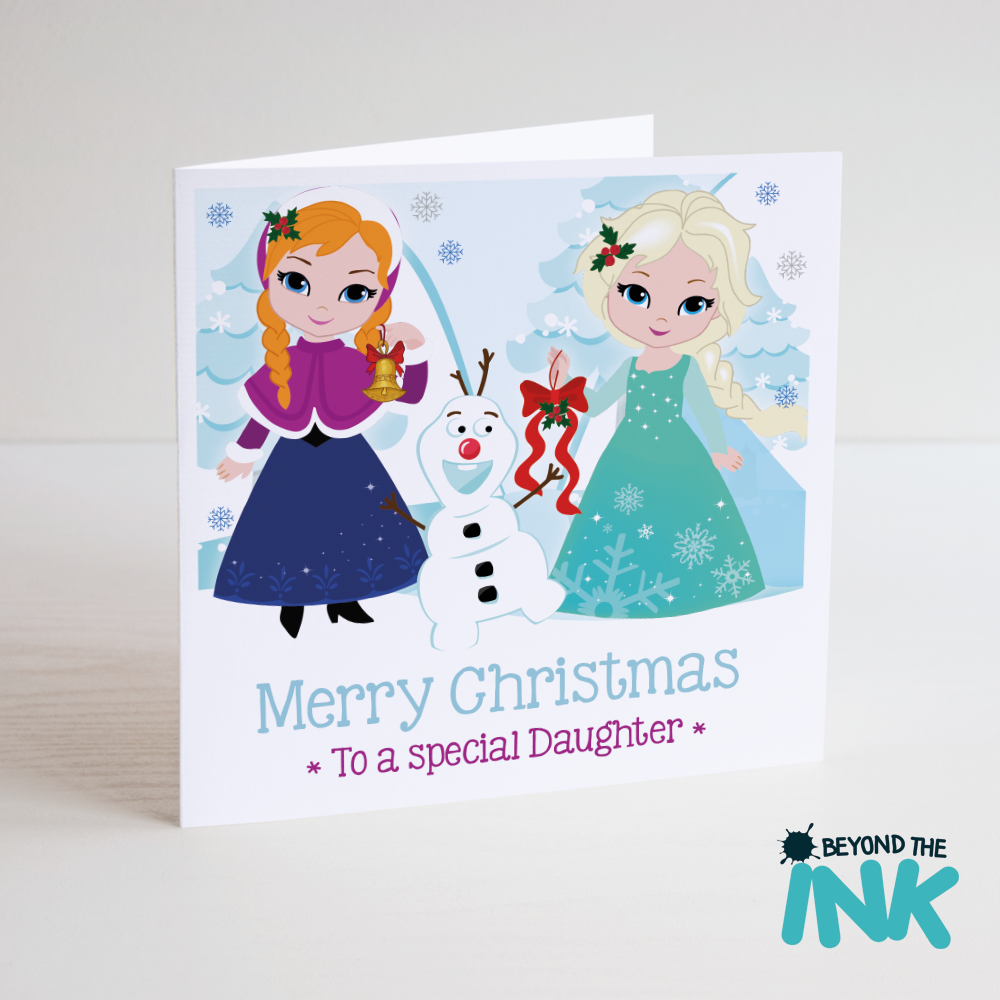 Personalised Frozen Relation Christmas Card | Beyond The Ink