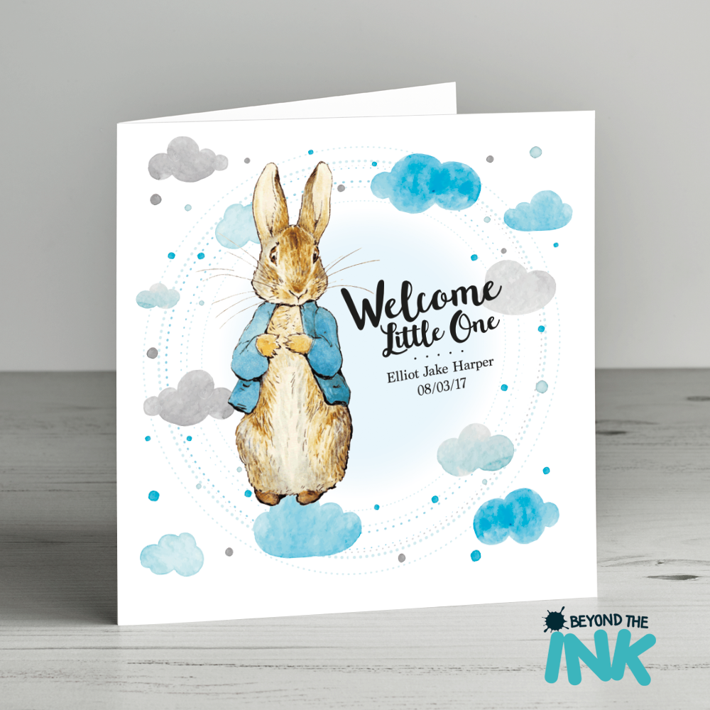 personalised new born baby cards beyond the ink - New Born Baby Card