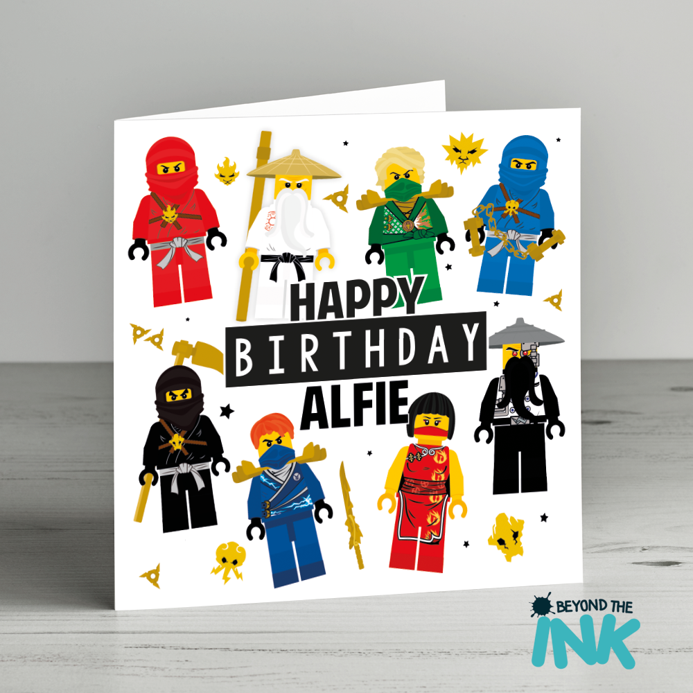 Personalised lego ninjago birthday card beyond the ink bookmarktalkfo Image collections