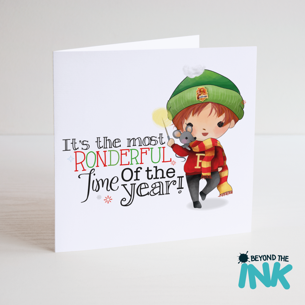 funny harry potter christmas card beyond the ink