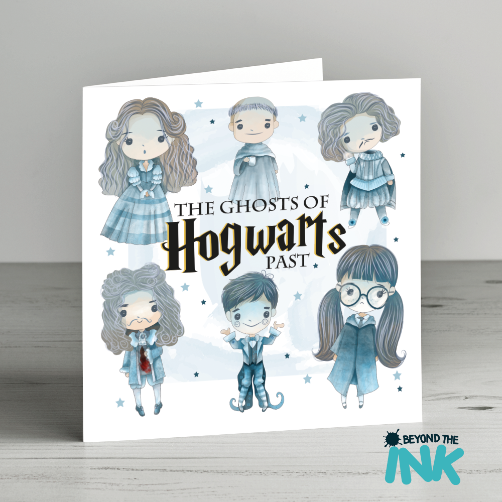 Harry Potter Christmas Card – Ghosts Of Hogwarts Past | Beyond The Ink