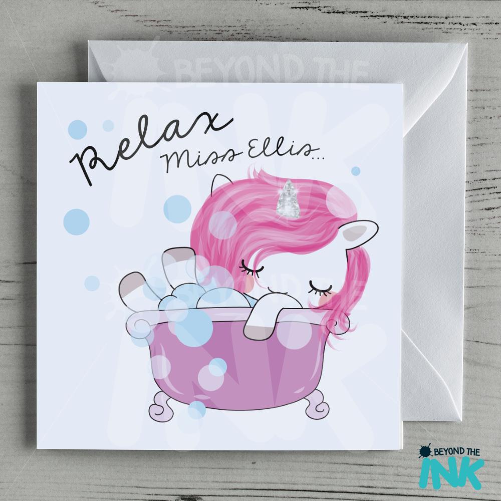 Unicorn Relax Teacher Card Beyond The Ink