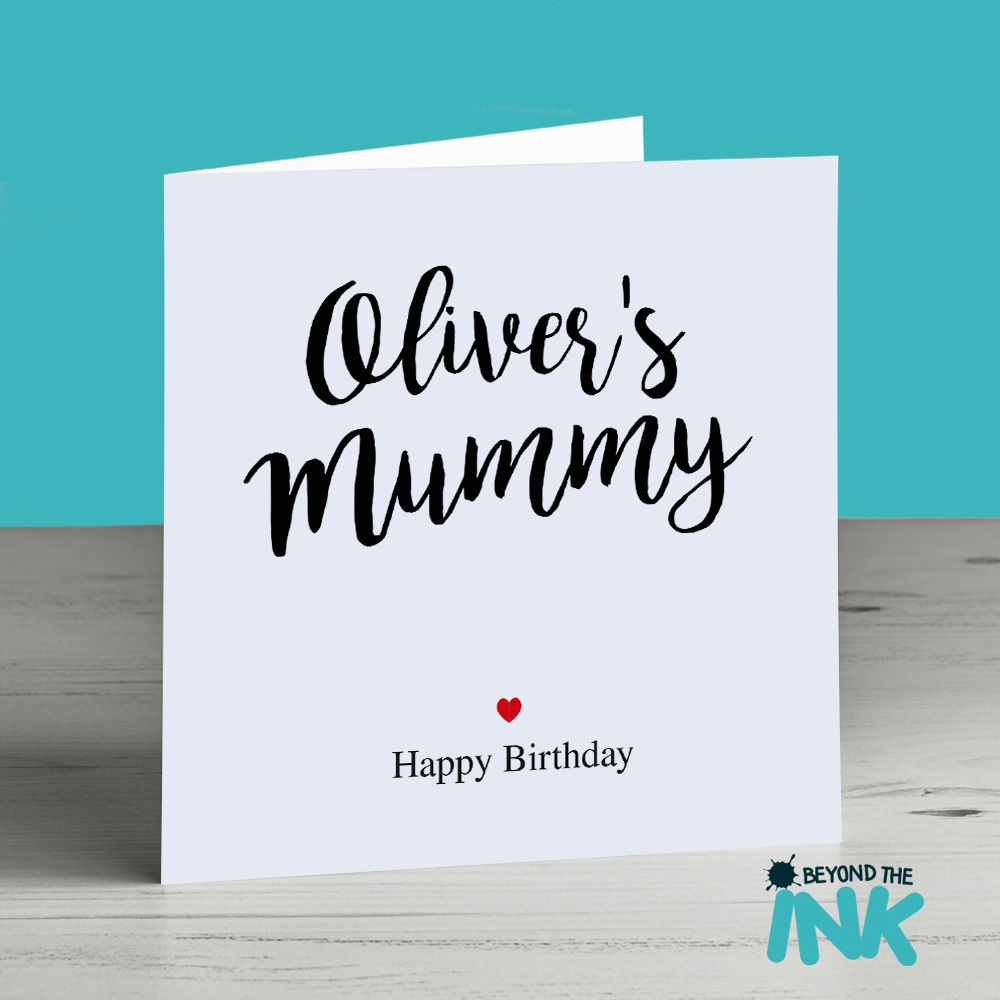 Personalised Birthday Card For Mummy